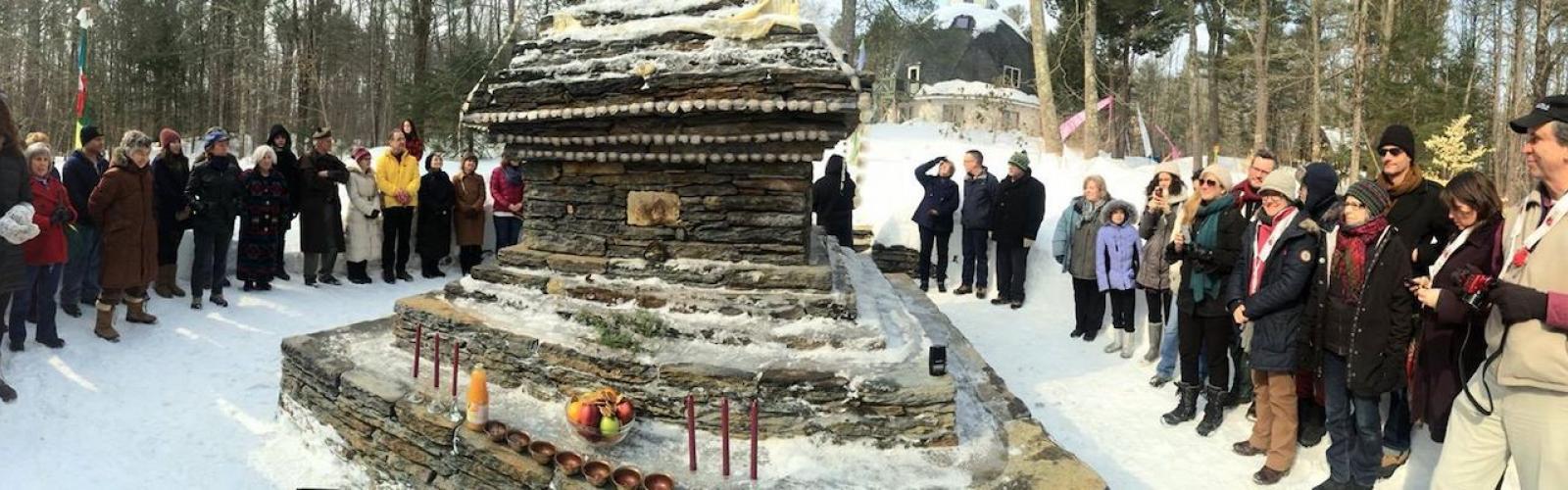 winter stupa dedication