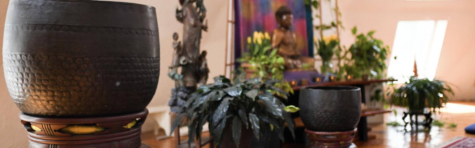 the aryaloka shrine room