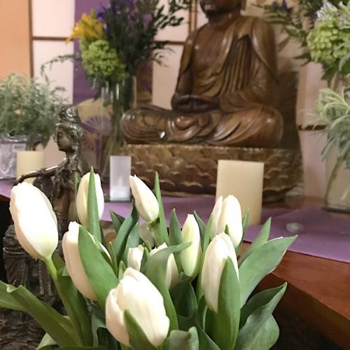 Buddha figure on a shrine